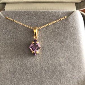 del Sarto 14kt Gold Amethyst Necklace
